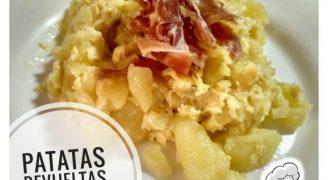 Revueltos de patatas y jamón.