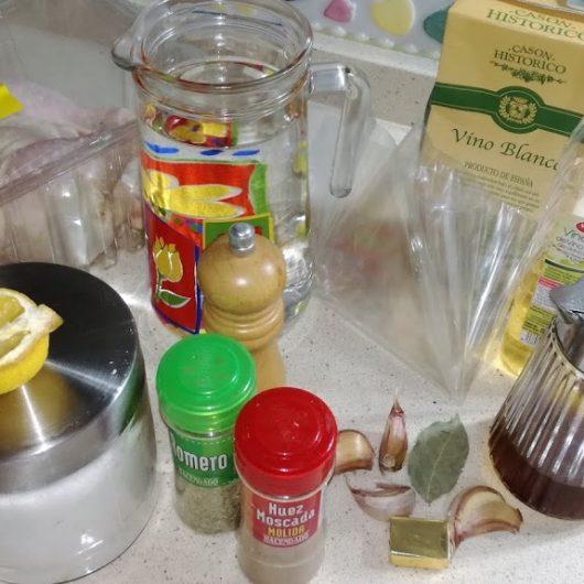 Ingredientes para hacer el pollo asado al varoma