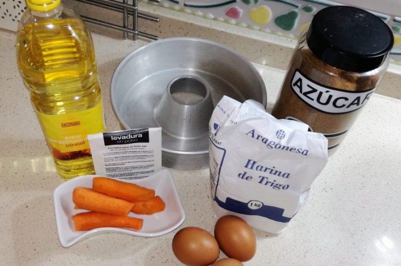 ingredientes bizcocho de zanahorias
