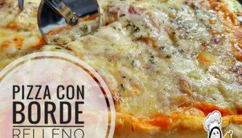 piza de con borde relleno de queso