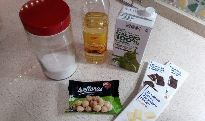Los ingredientes para hacer Nutella de cacao y avellana en Thermomix