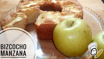 bizcocho de manzana hecho con Thermomix