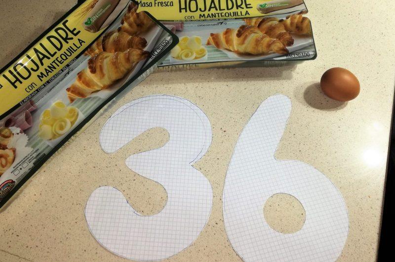 Ingredientes para hacer la tarta de los números.