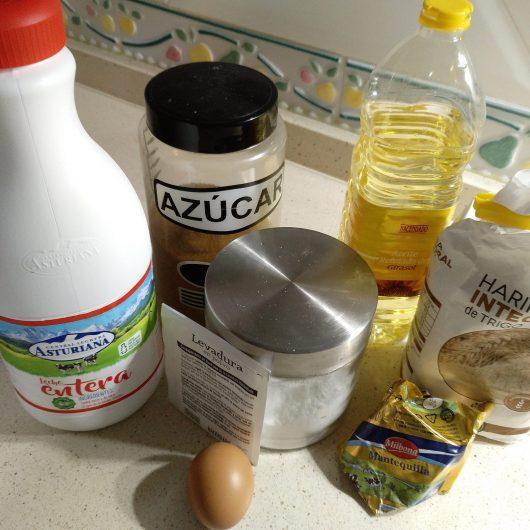 Ingredientes para hacer las tortitas integrales en Thermomix