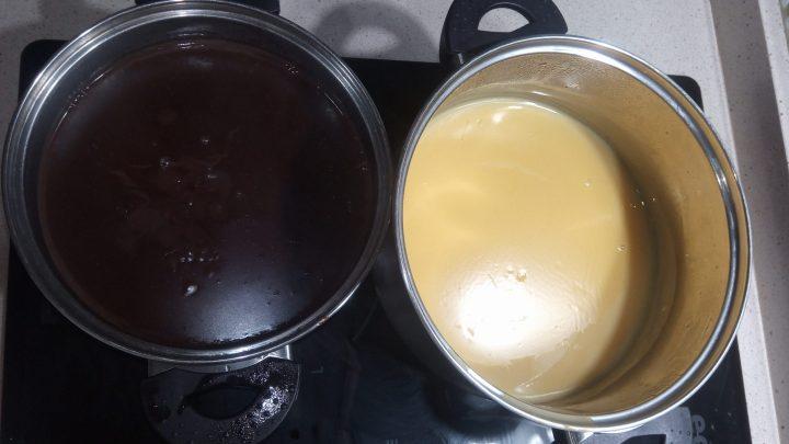 Flanin y Chocolate para la tarta