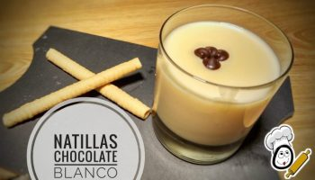 Natillas de chocolate blanco en Thermomix
