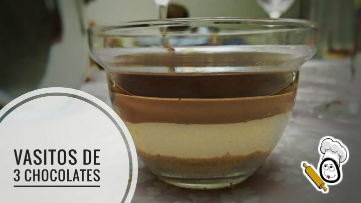 Vasitos de 3 chocolates en Thermomix