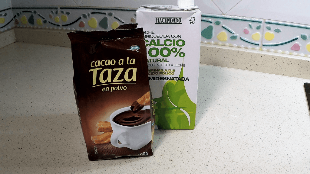 Ingredientes de chocolate a la taza