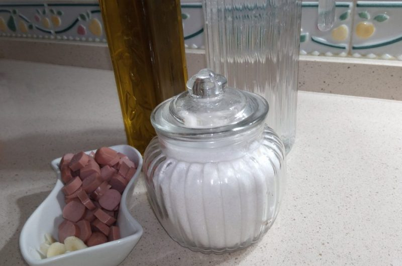 Ingredientes para hacer arroz a la cubana en olla GM