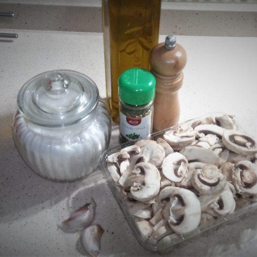 Ingredientes para hacer champiñones al ajillo en Olla GM