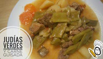 Judías verdes con carne guisada en olla GM