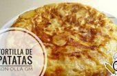 Tortilla de patatas hecha con la olla GM