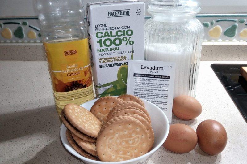 Ingredientes para hacer bizcocho galletas principe en Thermomix tm5