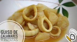 Guiso de calamares y patatas con Thermomix