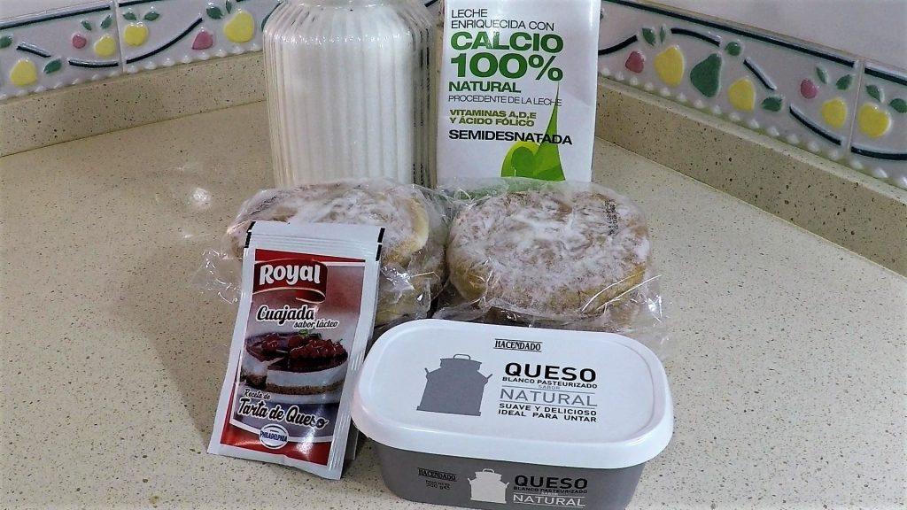Ingredientes para hacer cuajada de queso Thermomix
