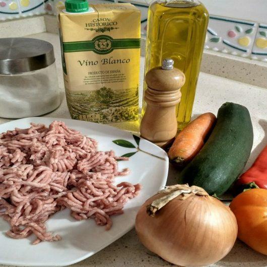 Ingredientes para hacer lasaña boloñesa Thermommix