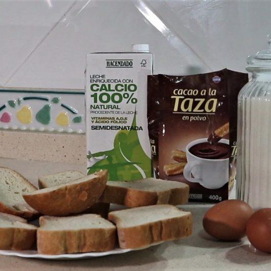Ingredientes para hacer torrijas de chocolate en la Thermomix para Semana Santa
