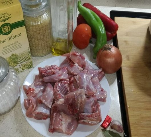Ingredientes para hacer arroz con conejo en Thermmix
