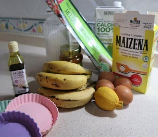 Ingredientes para hacer tartaleta de frutas con Mambo