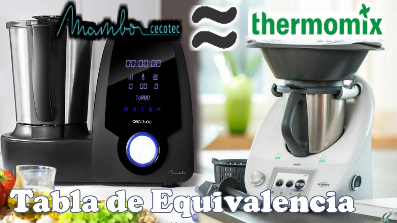 Tabla equivalencia entre Mambo y Thermomix