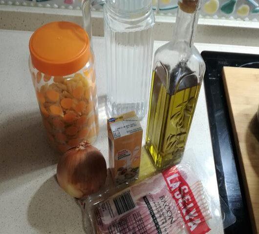 Ingredientes para hacer macarrones a la carbonara con Mambo