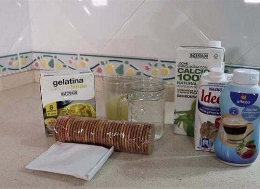 Ingredientes para hacer tarta de limón y leche condensada en Thermomix
