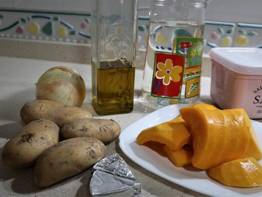 Ingredientes crema de calabaza