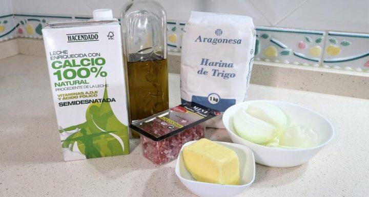 Los Ingredientes  necesarios para hacer las croquetas de jamón con Mambo