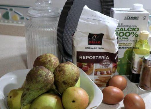 Ingredientes para hacer tarta de pera