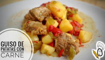 Hacer patatas guisadas con carne en Olla GM