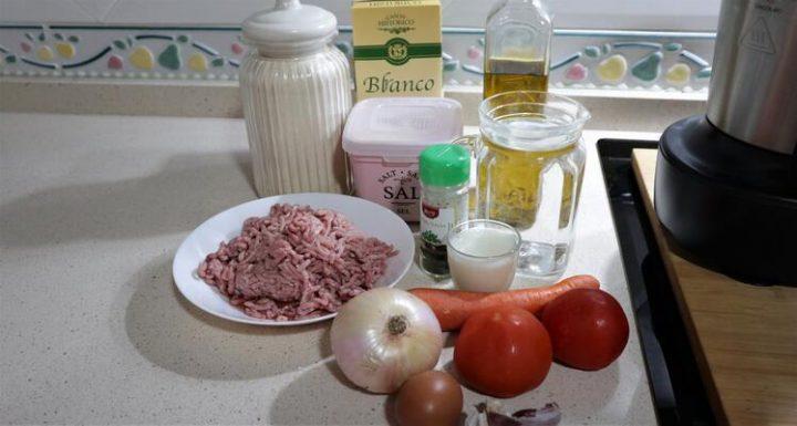Ingredientes para hacer albóndigas en Mambo