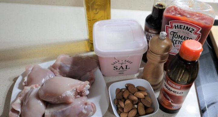Qué ingredientes necesito para hacer pollo con almendras en Thermomix