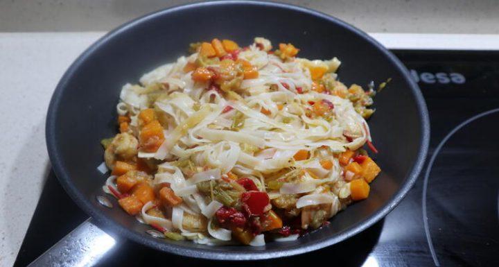 Cómo hacer noodle con verduras