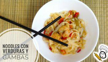 Cómo hacer noodles con gambas en Thermomix