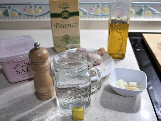 ¿Qué ingredientes necesito para hacer alitas de pollo al ajillo en Mycook?