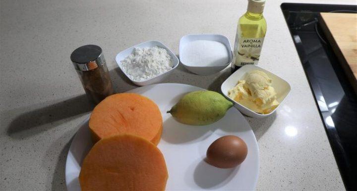 Los ingredientes necesarios para hacer las galletas de Halloween con Thermomix