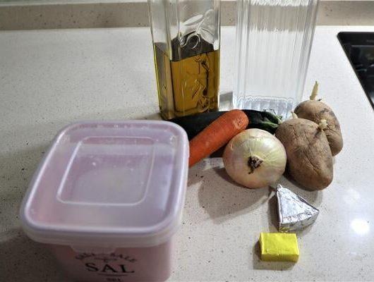 Ingredientes para hacer puré de calabacín en Mycook