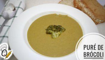 Plato de puré de brócoli hecho con Mambo