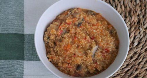 Plato de quinoa hecho con Mambo