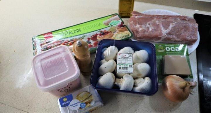 Los Ingredientes necesarios para hacer la receta de hojaldre relleno de lomo en Mambo