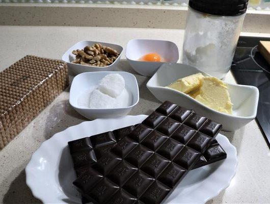 Ingredientes para hacer salchichón de chocolate