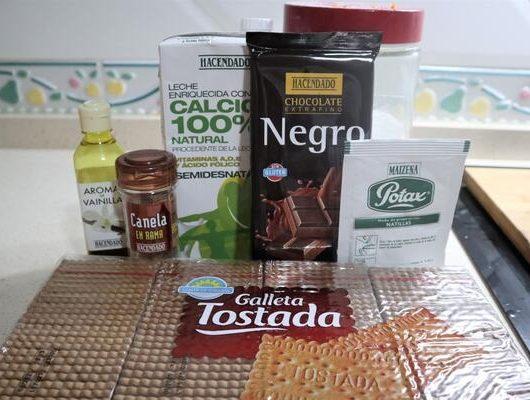 ¿Qué ingredientes necesito para hacer tarta de galletas en Thermomix?