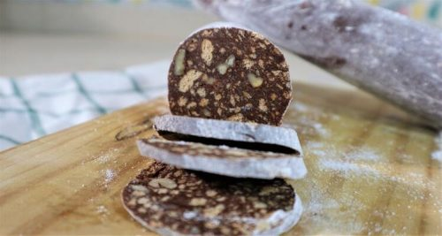 Hacer receta de salchichón de chocolate