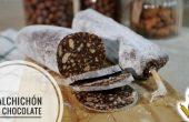 Salchichón hecho de chocolate en Thermomix