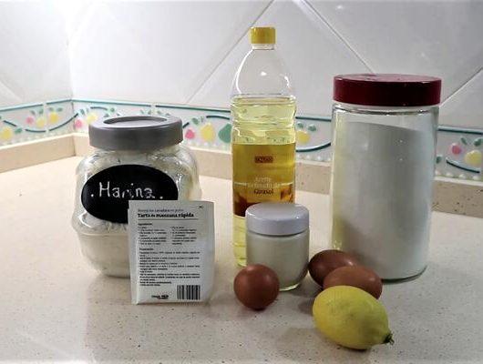 Ingredientes para hacer el bizcocho de yogur y limón en Mambo