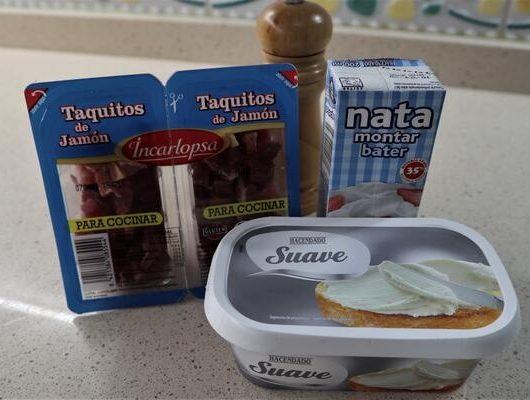 Ingredientes necesarios para hacer paté con jamón