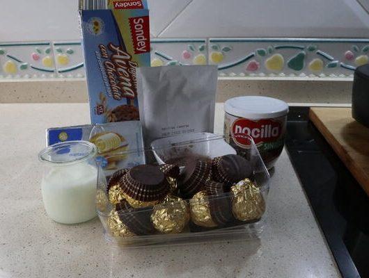 Ingredientes para hacer tarta de Ferrero Rocher con Mambo