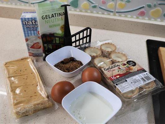 Ingredientes para hacer tartaletas de turrón en Mambo