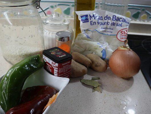 Ingredientes necesarios para hacer el arroz con bacalao en Mycook