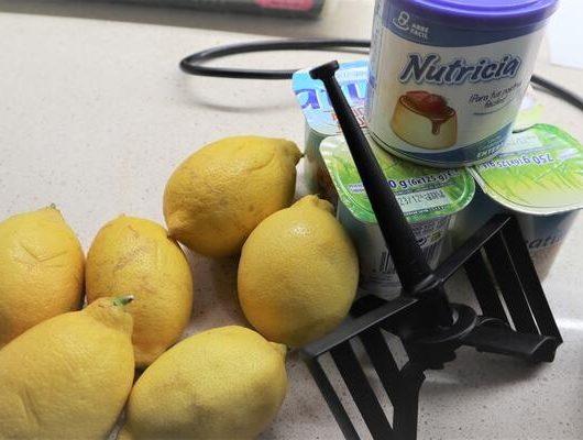 Ingredientes para hacer mousse de limón con Mycook de Touch